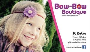 Bow Bow Business Card